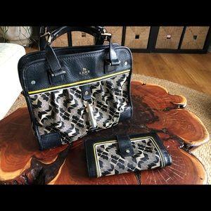 L.a.m.b. Sophie jacquard handbag and wallet